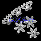 Clear Swarovski Crystal Rhinestones Butterfly Hair Pin & Flower Hair Circle Set