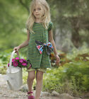 Persnickety Girls Green & Blue Striped Lucille Dress size  3 NEW