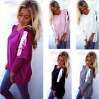 Fashion Womens Long Sleeve Loose Sequined Knitted Sweater Jumper Casual Sweater