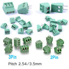2 Pin/ 3Pin PCB Screw Terminal Block Connector Panel Mount Pitch 2.54mm / 3.5mm