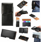 For Samsung Galaxy Note 7 PU Leather Holster Case Waist 360 Rotating Style Black
