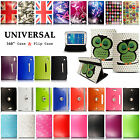 Universal Luxury Leather Wallet Flip Case Cover Stand For Samsung Galaxy Tablets