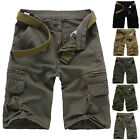 New Mens Casual Army Cargo Combat Camo Camouflage Shorts Overall Pants Trousers