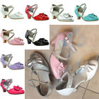 silver shoes kids - Kids Girls Dress Shoes Kitten Heel Bow Accent Rhinestone Ankle Straps /w Buckles