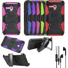 For Straight Talk Alcatel Pixi Glory LTE Case Holster Cover Headset Earbud w/Mic