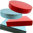 BULK 5 PACK of Culpitt Cake Boards Round / Square COLOURED Drum Board 12mm Thick