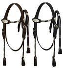 Внешний вид - Western Saddle Horse Leather Bridle Headstall w/ Reins Black or Brown Horse size