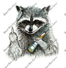 Rude Raccoon Sticker Decal Wildlife Outdoors Nature Animal Funny Finger Camping