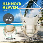 Gardeon Cotton Hanging Hammock Chair Stand Double Swing Bed Outdoor Rope Camping