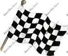 Checkered Flag Sticker Decal Nature Outdoors Race Track Hunting Racecar Dragrace