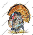 Wild Turkey Bird Sticker Decal Helmet Equipment Cooler Hunting Fishing Camping