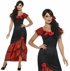 Flamenco Costume Spanish Mexican Rumba Ladies Fancy Dress Outfit UK 8-22