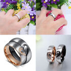 claddagh rings meaning - Rose Gold Plated Artificial Diamond Titanium Steel Couple Rings Meaning Love