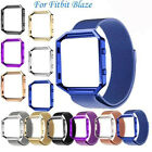 Fashion Stainless Steel Magnetic Loop Wrist Watch Band Strap For Fitbit Blaze
