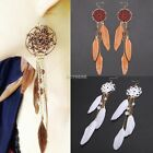 Bohemia Feather Beads Long Design Dream Catcher Earrings for Women Jewelry  AU