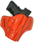 """BROWN LEATHER SPEED DRAW OPEN TOP FORWARD CANT BELT HOLSTER - SPRINGFIELD XD 5"""""""