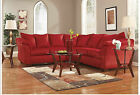 ASHLEY SIGNATURE FABRIC UPHOLSTERED SECTIONAL SOFA IN MOCHA BROWN OR RED SALSA