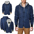 NEW MENS PULL & BEAR SHERPA FLEECE LINED QUILTED WARM WINTER HOODED COAT JACKET
