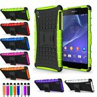 Shock Proof Cover For Sony Xperia Z2 Hard Tough Armour New Stand Fit Phone Case