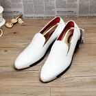 Vintage Mens PU Leather Casual Slip On Pointy Toe Formal Dress Wedding Shoes New