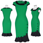 Womens Vintage 50s 60s Casual Party Bodycon Mermaid Pencil Evening Midi Dress