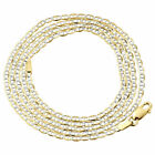 Mens Real 10K Yellow Gold Diamond Cut Mariner Chain 2mm Necklace 16-26 Inches