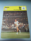 TENNIS - FRED STOLLE / WIMBLEDON 1963 - Sportscaster Photo Fact Card