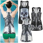 New Women's Digital Print Graphic Tank Vest Blouse Punk t-Shirt Clubwear UR
