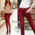 AU SELLER Casual Womens Candy Coloured Skinny Jeans Pencil pants p126