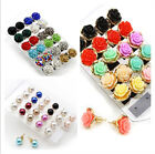 Woman Charms Flower/Pearl/Crystal Ear Stud Earrings Chic Party Jewellery Gifts