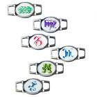 Colorful Astrology Zodiac Oval Charms for Paracord Bracelets and Shoelaces