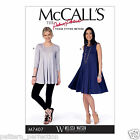 McCall's 7407 Sewing Pattern to MAKE Easy Misses' Flared Knit Top and Dress