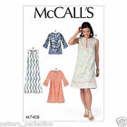 McCall's 7408 Sewing Pattern to MAKE Easy Misses' Notched Tunic and Dresses