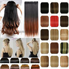 3/4 Full head Clip in natural Hair Extensions Ombre Hair Extentions Dip Dye hn95