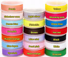 "5/50/100YDS of Solid Pure Grosgrain Ribbon - 10mm (3/8"") width..Various Colours"