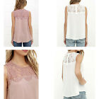 Women Chiffon Lace Sleeveless Shirt Blouse Vest Tops High-quality On-sale