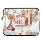 Zipper Sleeve Bag Cover - Paris Makes Me Happy - Fits Most Laptops + MacBooks
