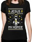 Jesus Is My Homie Ugly Christmas Sweater Women T-Shirt Xmas Gift