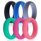 6X Smartdoo Silicone Outdoor Work Band Rings Hypoallergenic Wedding Love Rings