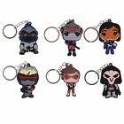Overwatch Reaper Tracer Silicone Keychain Key Ring Pendant Collectible Gift Toy