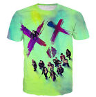 New Fashion Womens/Mens Harley Quinn Joker Funny 3D Print T-Shirt US236
