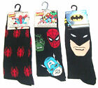 Mens Batman Superheroes Spiderman Character Socks  Uk Size 6-11  (Eur 39-45) New