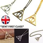 Harry Potter The Deathly Hallows Necklace Silver Gold Bronze Charm Pendant Chain