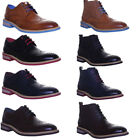 Justin Reece Classic Brogue Mens Leather Formal Shoes Blue Sole Shoes