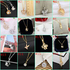 Fashion Women Gold Plated  crystal Chain Pendant Necklace Jewelry 49 styles new