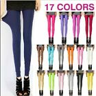 Women's fashion fluorescence candy shiny stretch tight pants hot sell new