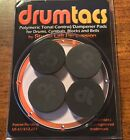 DrumTacs Dampener Pads: Kit/Cymbal Tone Control 4 Pack (Drum Tacs EQ Dampers)