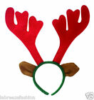 New Reindeer Antlers with Ears on Headband Hen Stag Do Fancy Dress