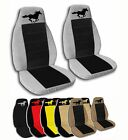 2 Front Running Horse Velvet Seat Covers with 17 Color Options