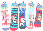 Jake & The Neverland Pirates Kids Slipper Socks Uk Size 3-5.5 6-8.5 9-12 New
